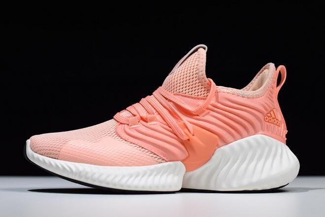 42d4b4954e0d0 Women s adidas Alphabounce Instinct CC W Coral Pink White D97284 in ...