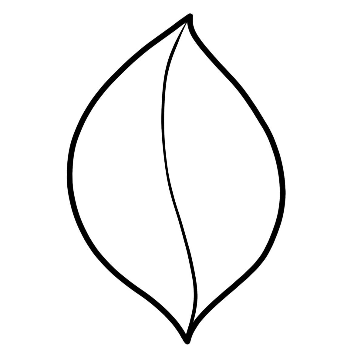 Drawing Leaves Easily Using Simple Shapes