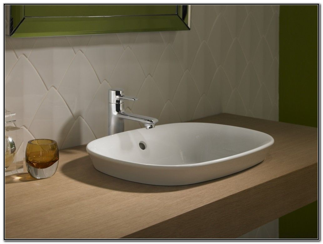 Maris Semi Recessed Vessel Sink With Images Bathroom Sink