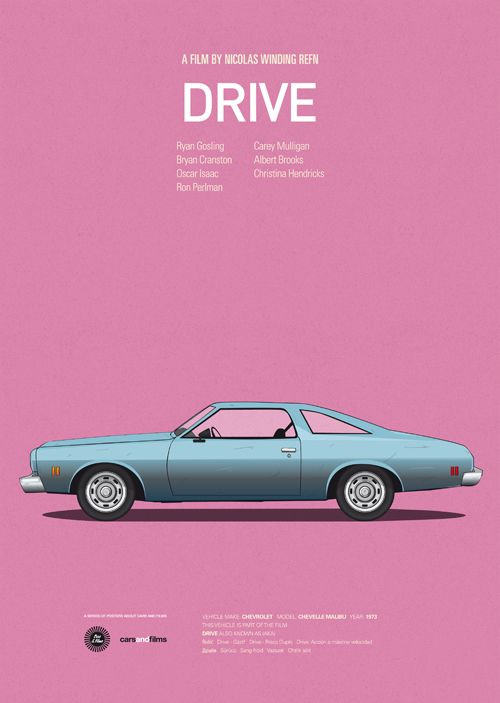 Classic Posters of Iconic Movie Cars is part of Famous movie cars, Cars movie, Poster series, Inspirational posters, Iconic movies, Film posters - Cars And Films is a series of prints paying homage to some great films and the iconic vehicles used in them by graphic and web designer Jess Prudencio
