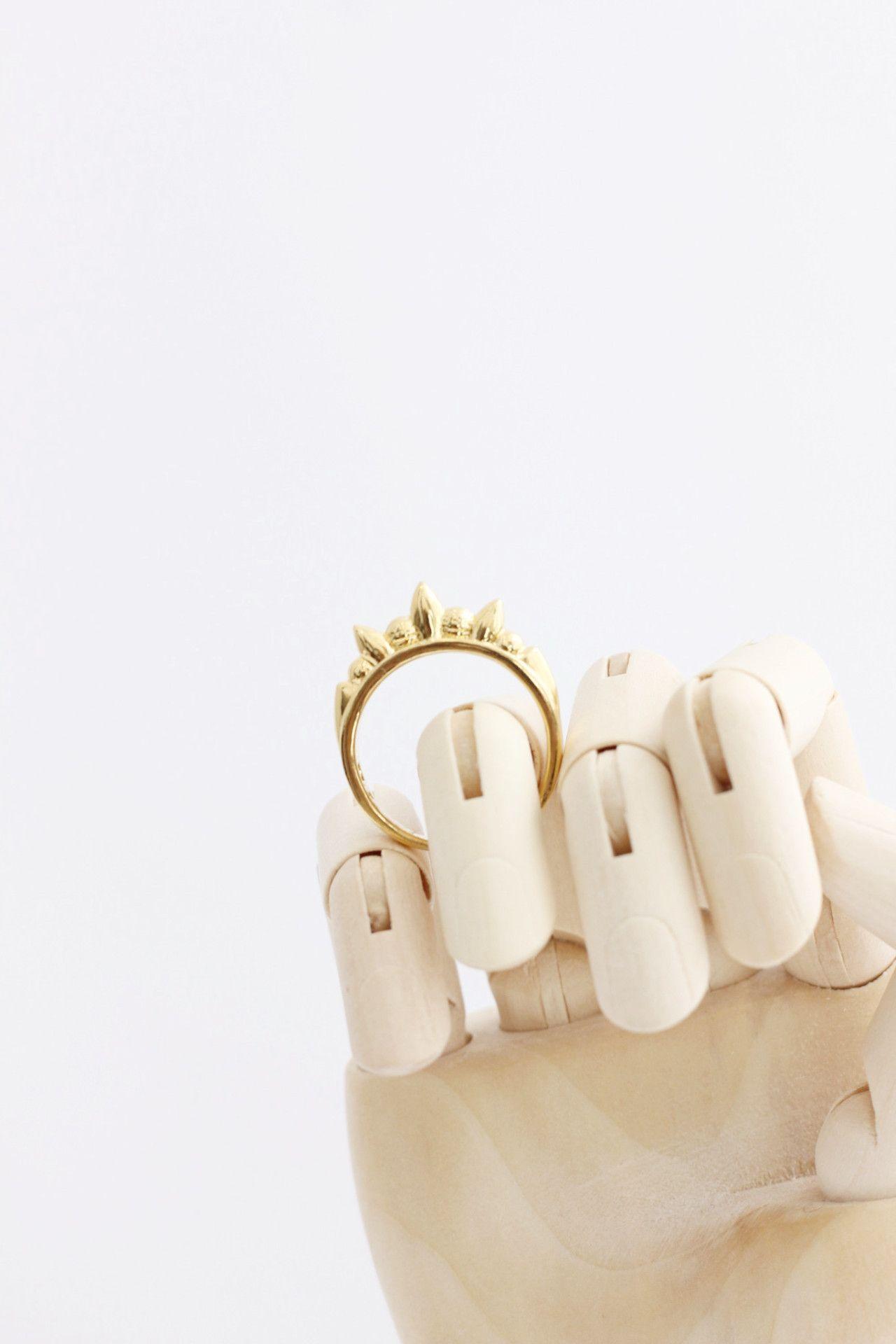 Thin tribal spike ring