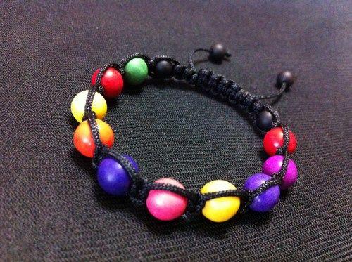4Kids Multi Color Howlite Shamballa Bracelet (KISHA-0007) | GemBracelets - Jewelry on ArtFire