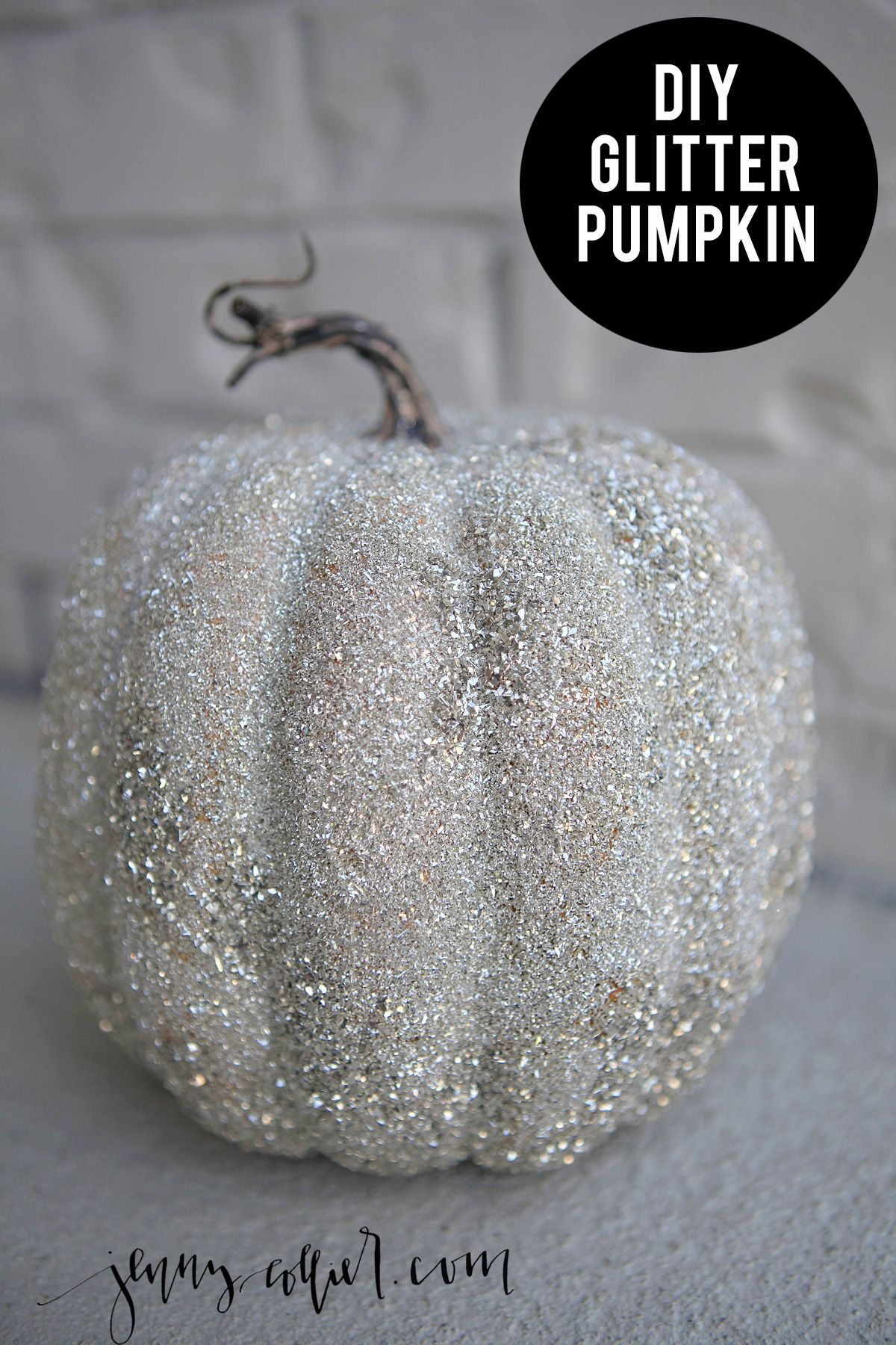 Diy Glitter Pumpkins With Images Glitter Pumpkins Glitter Diy Glitter Decor