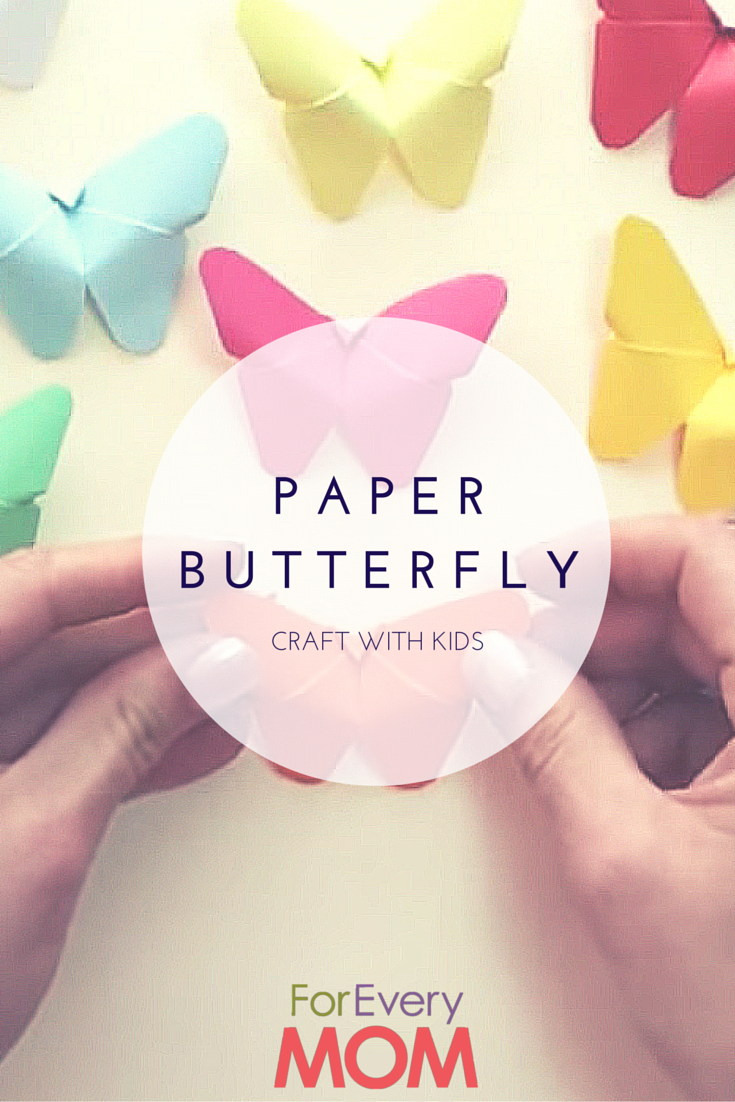 Diy simple and easy paper diy butterfly party decorations - Diy Paper Butterfly Craft For Kids