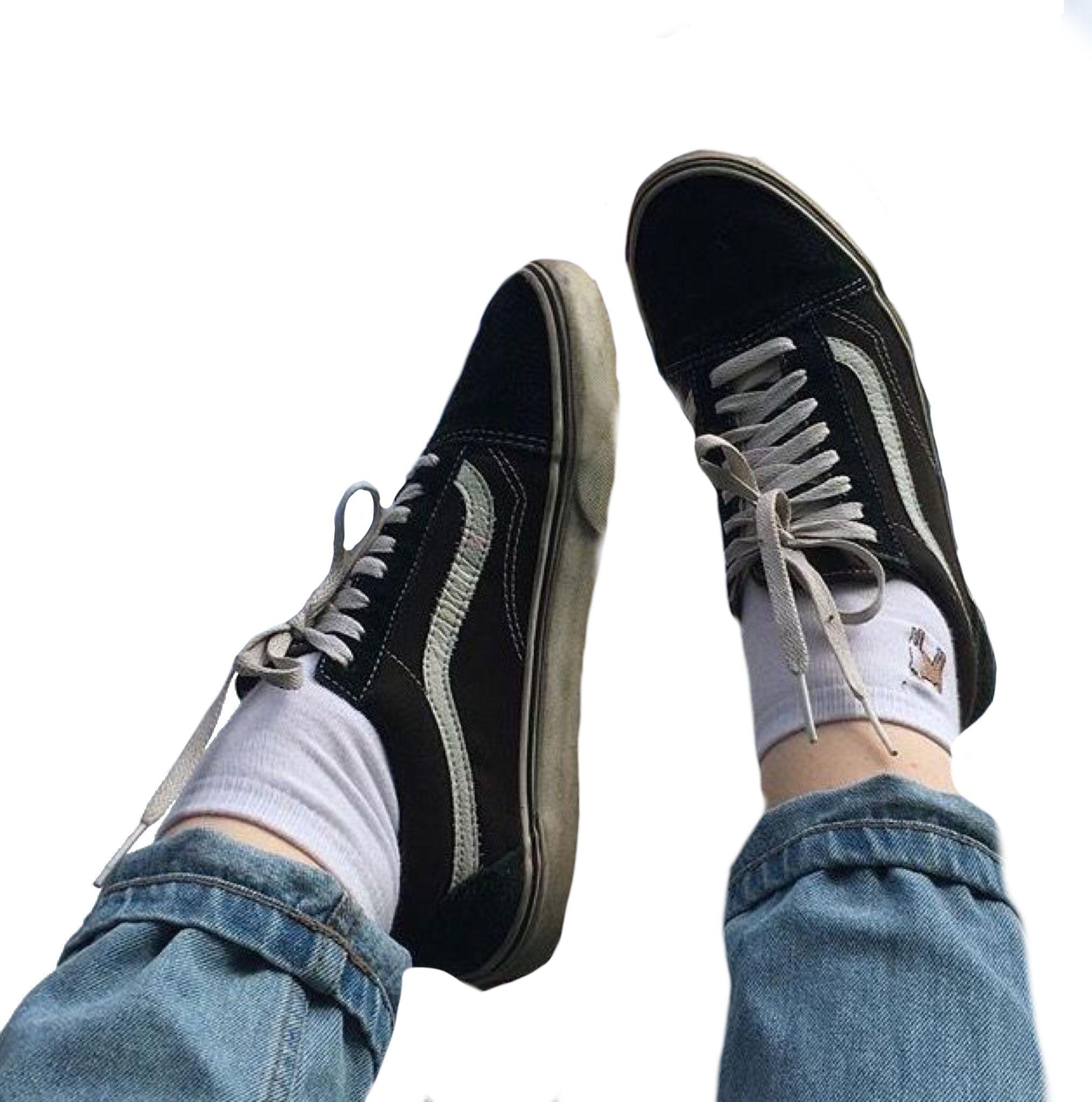 263d4ea6408 Vans black blue polyvore moodboard filler sneakers legs