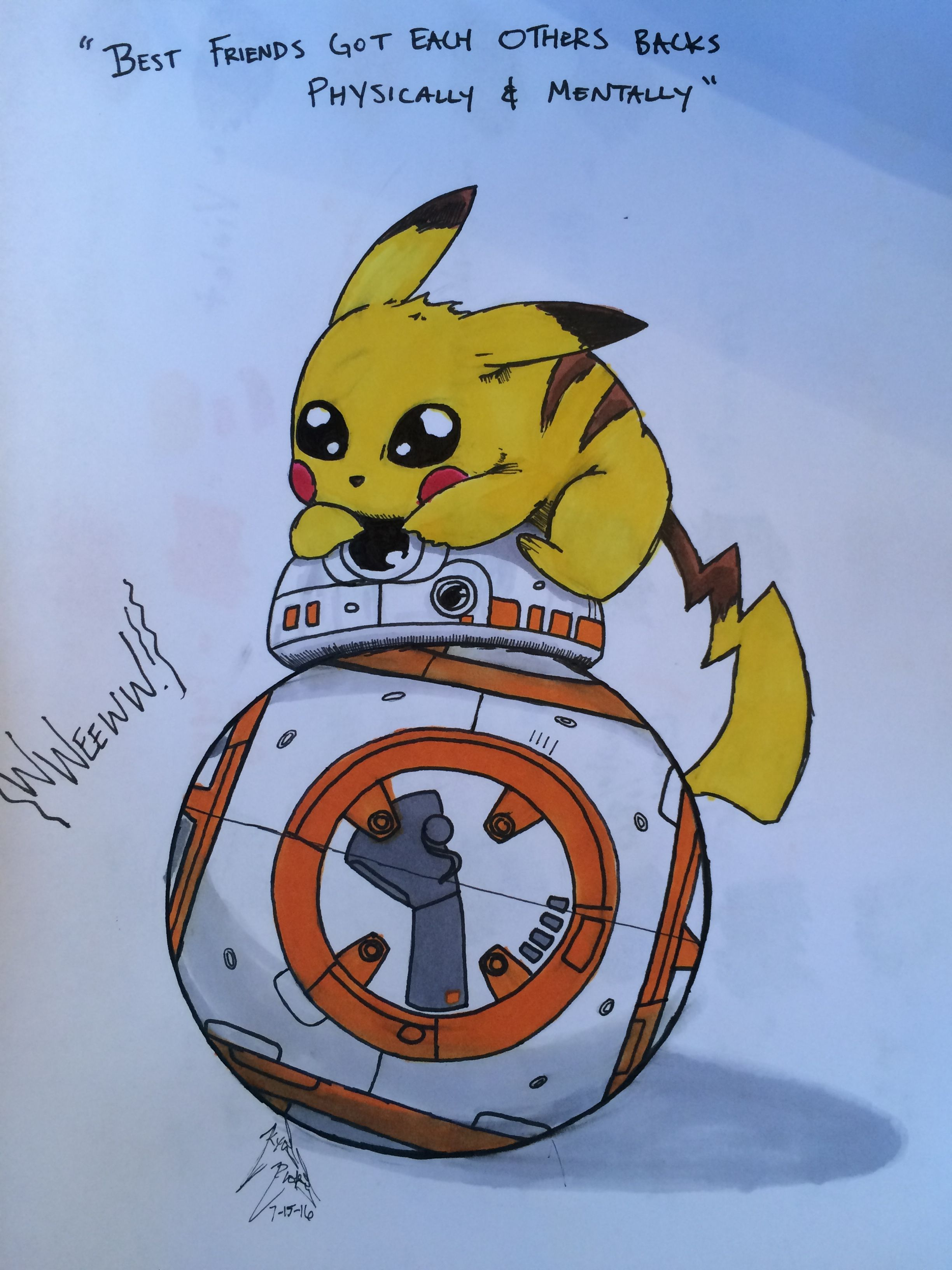 Pikachu and BB-8