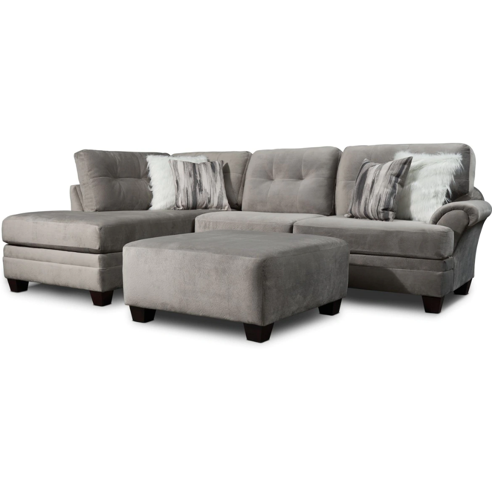 Cordelle 2 Piece Sectional With Accent Pillows Free Ottoman Value City Furniture And M Left Facing Chaise Value City Furniture American Signature Furniture