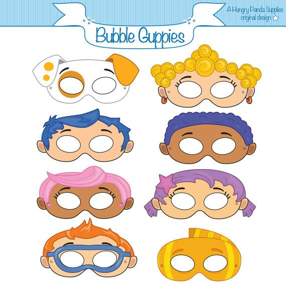 Bubble Guppies Inspired Printable Masks   Halloween costumes   Pinterest