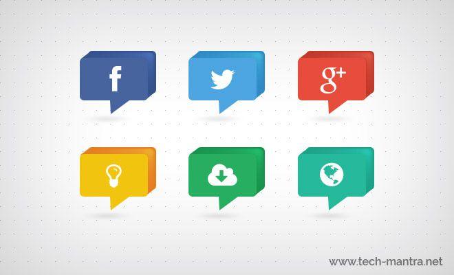 Social Media Free PSD