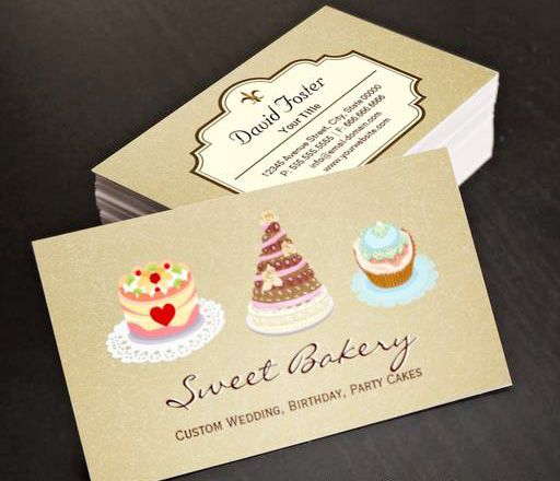 Custom wedding birthday party cakes bakery store business cards this custom wedding birthday party cakes bakery store business cards this great business card design is available for customization all text style col reheart Gallery