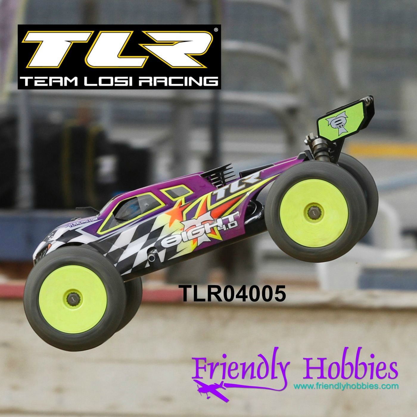 Team Losi Racing 1 8 8IGHT T 4 0 4WD Nite Truggy Race Kit TLR