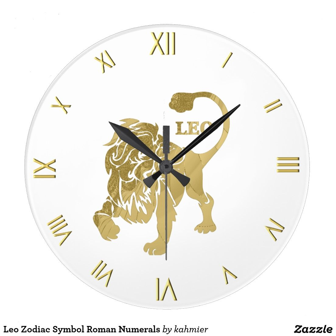 Leo zodiac symbol roman numerals large clock zodiac symbols leo leo zodiac symbol roman numerals large clock biocorpaavc