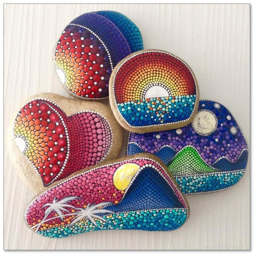100 Diy Ideas Of Painted Rocks With Inspirational Picture And Words Decorating Ideas Home Decor Ideas And Tips Rock Painting Art Rock Crafts Rock Painting Designs