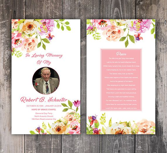 Funeral Prayer Card Template Editable MS Word \ Photoshop Mom - memorial service invitation template