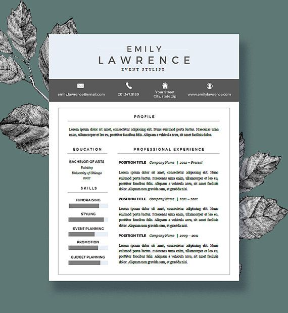 Modern Resume Template  Free Cover Letter  Resume For Word And