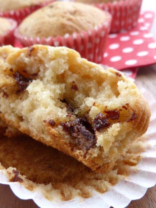 Muffins banane chocolat au caramel