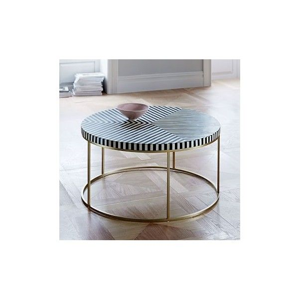 Black And White Striped Round Coffee Table: West Elm Striped Bone Inlay Coffee Table ($799) Liked On