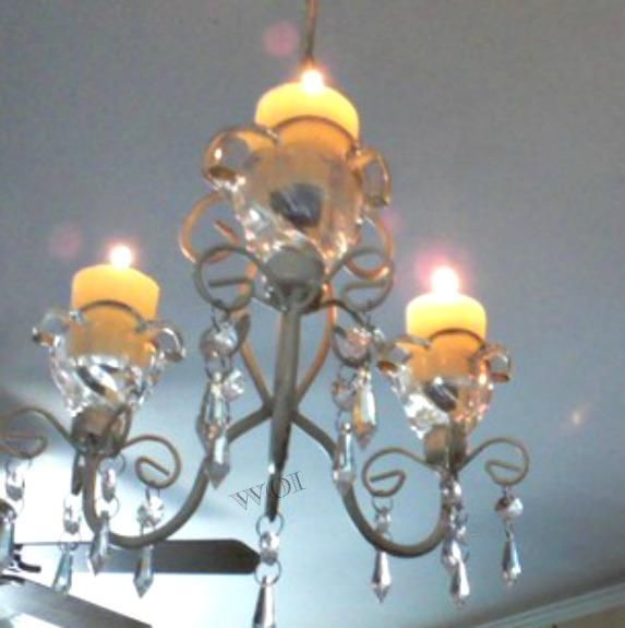 Victorian Hanging Candle Holder Chandelier Ceiling Lamp Light Acrylic Tear Drop