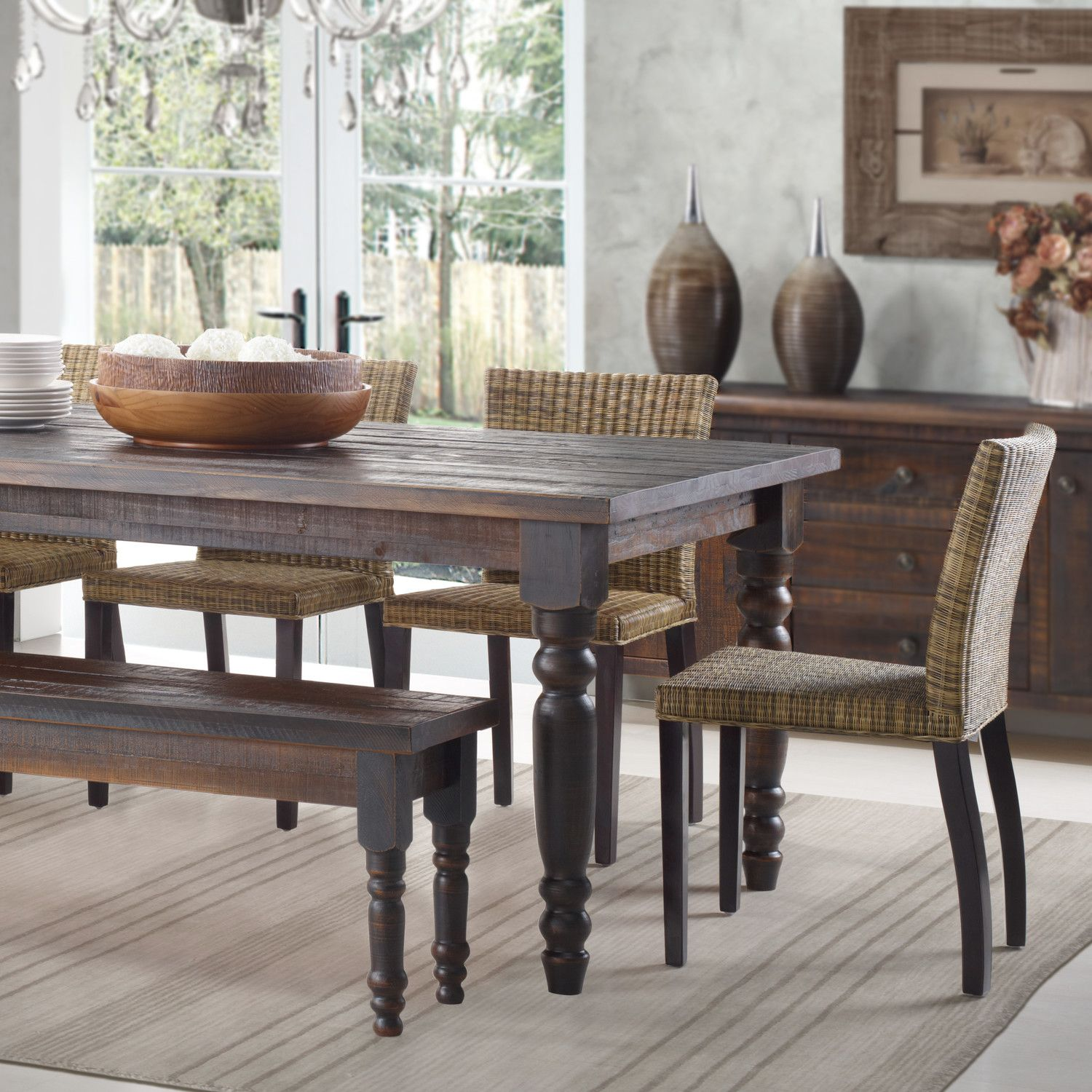 Valerie Dining Table Beach Pinterest Wood Furniture Woods And - Wayfair dining table with bench