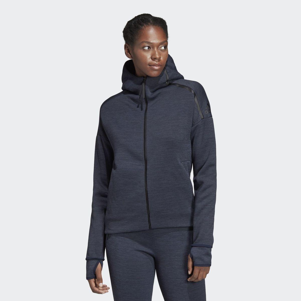 Adidas performance zne veste en sweat black femme noir