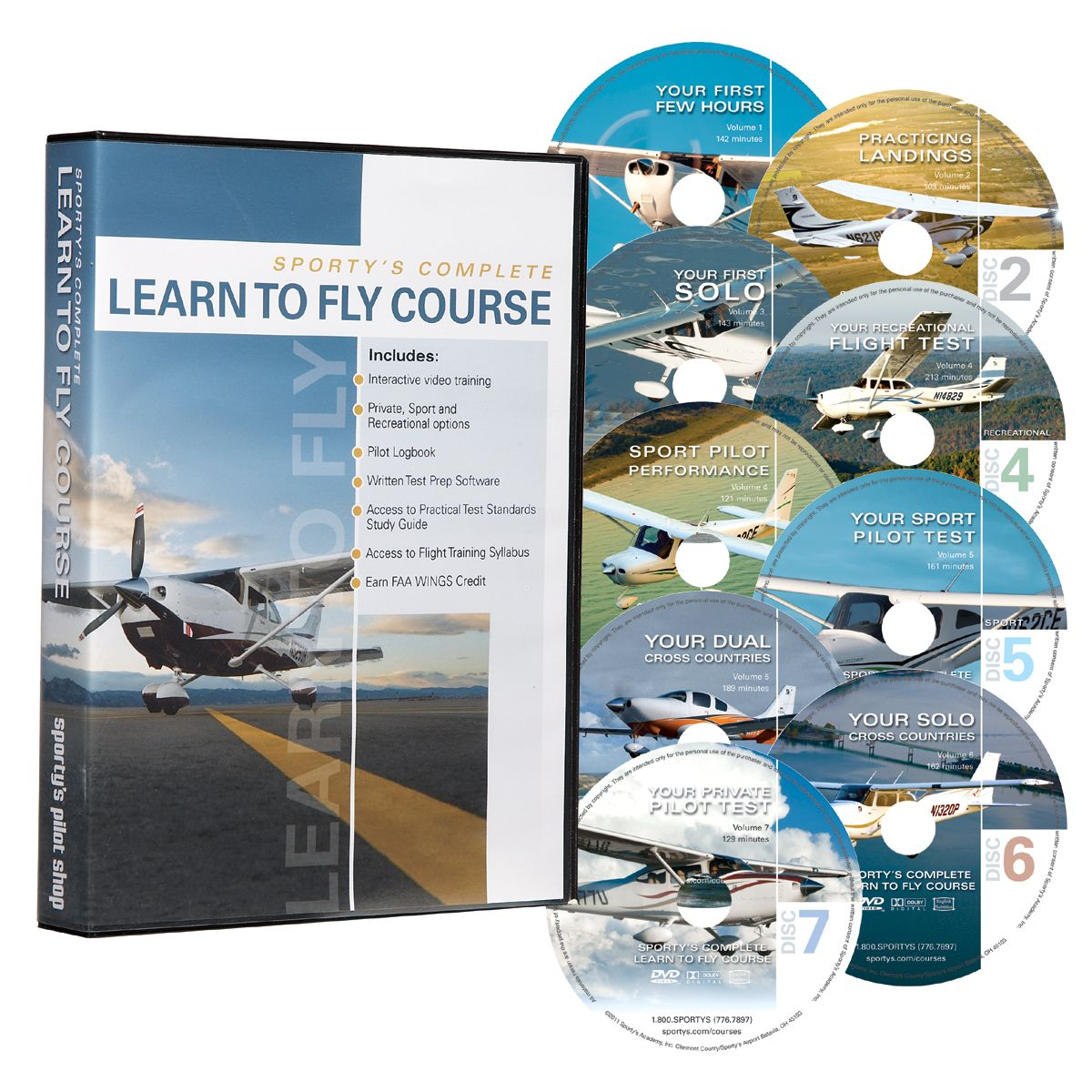Sporty's Learn to Fly Course Private pilot, Learn to fly