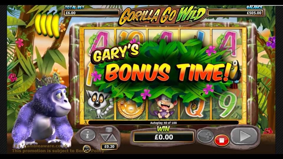 Gorilla going wild in wild forests! Play Gorilla Go Wild #slotsonline at Monster Casino. Make an easy sign up now, avail a bonus of £5 and enjoy cool bonus features