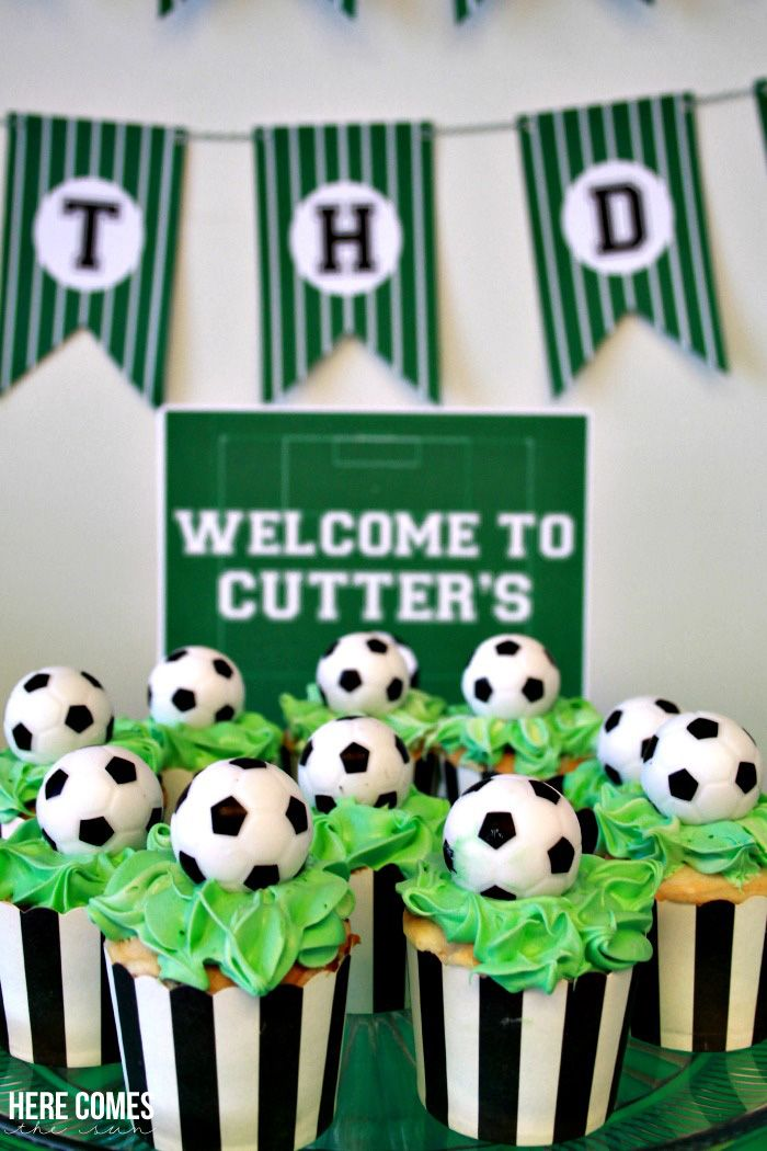 Boy S Soccer Themed Birthday Party Soccer Theme Parties Soccer Birthday Parties Soccer Birthday