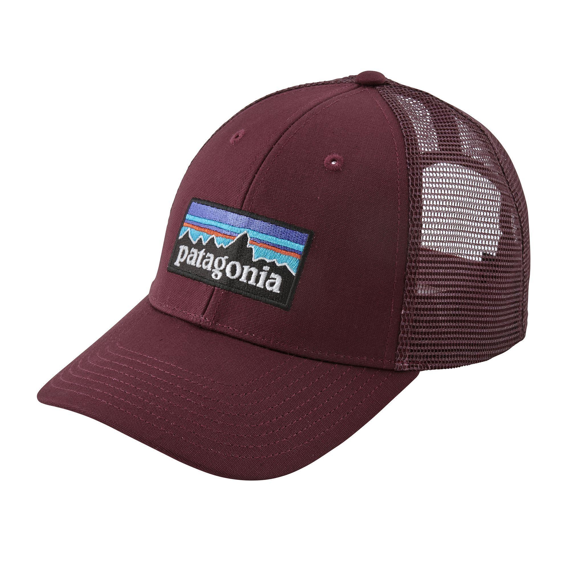 1ea82ddd162fc Patagonia Dark Currant P-6 Logo LoPro Trucker Hat