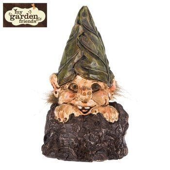 My Garden Friends Gnome Troll In Stump Small Figure Figurine Statue