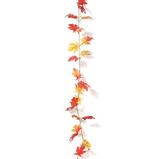 Maple Leaf Garland: Red/Yellow, 6 feet #leafgarland