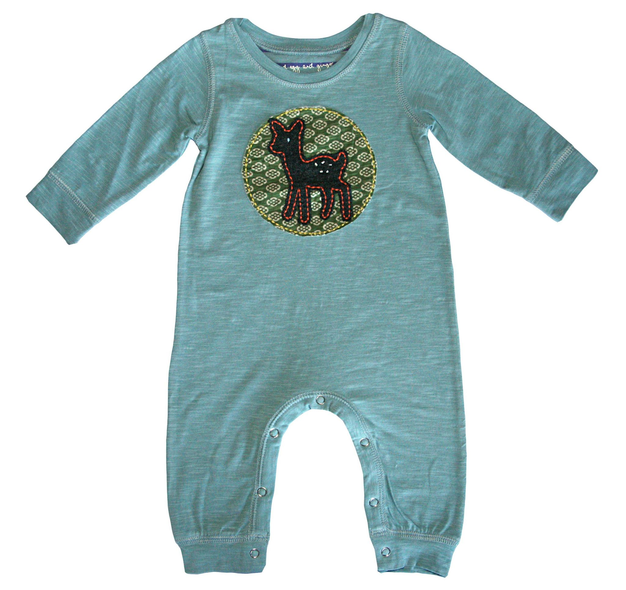 Heart Mashed Clothing Unisex Baby I Deer T-Shirt Romper