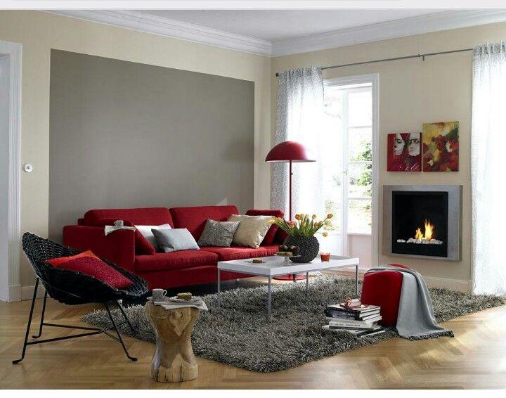 Rotes Sofa kombinieren   nette Ideen in 2019
