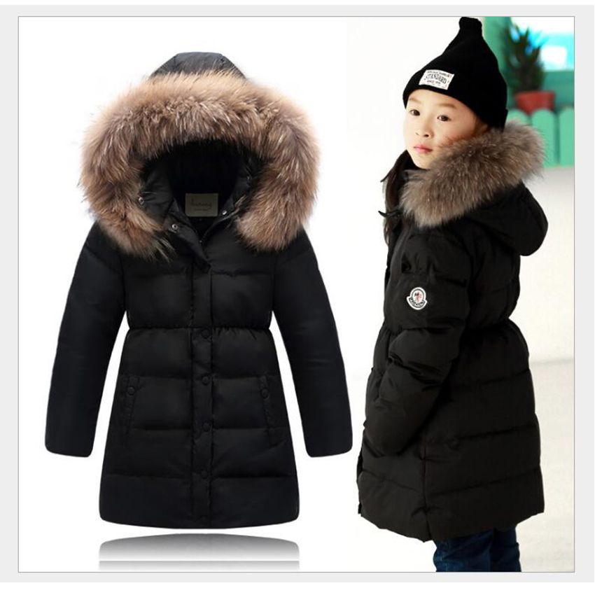 3b51b4b3a Click to Buy    Winter Long Style Childrens  Down Jacket For Girls ...