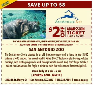 San antonio coupons and discounts
