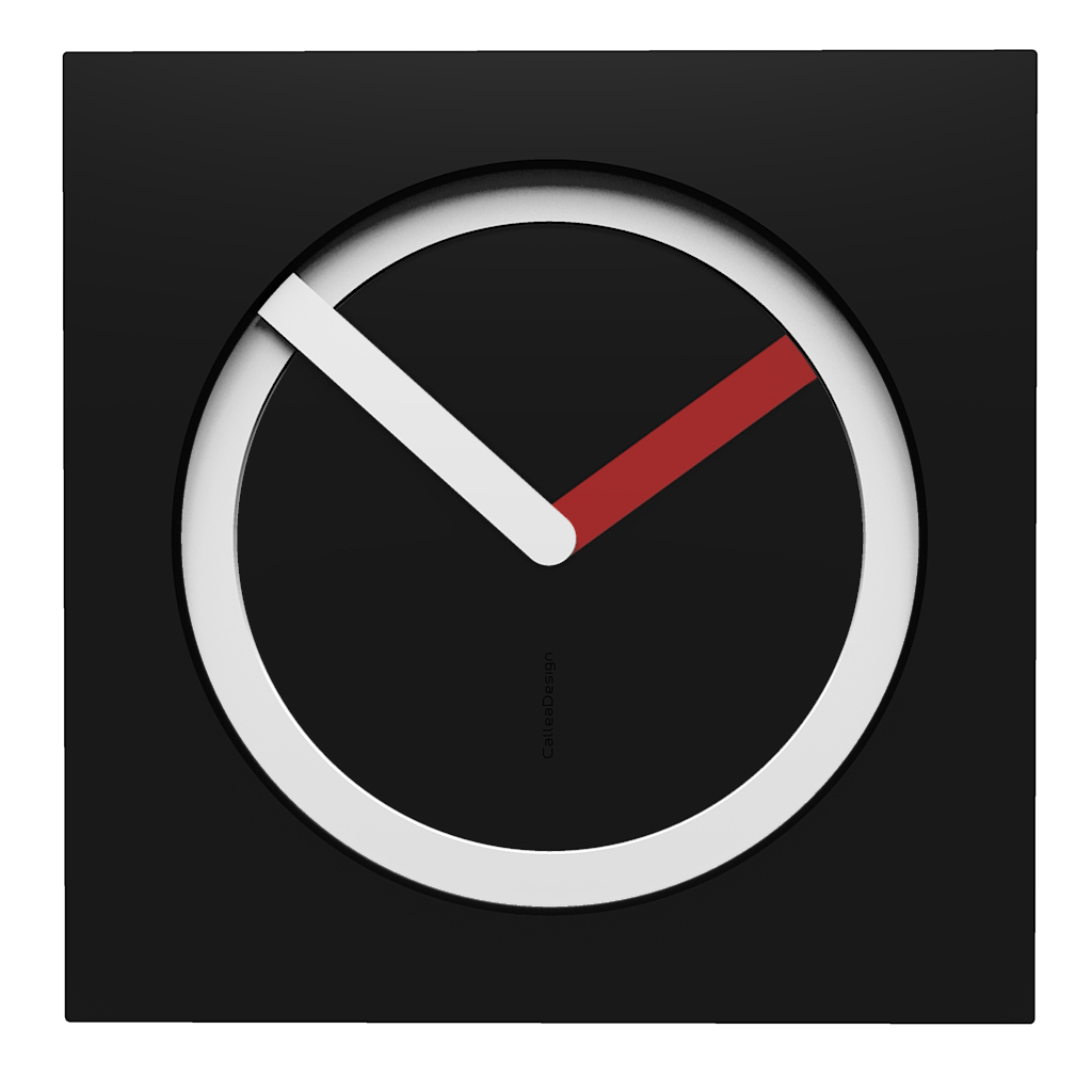 10-022-Q05C01B05O65M01 Wall clock KAM  - Do you like this color scheme? black, white, ruby. Have fun creating your own #wallclockdesigns