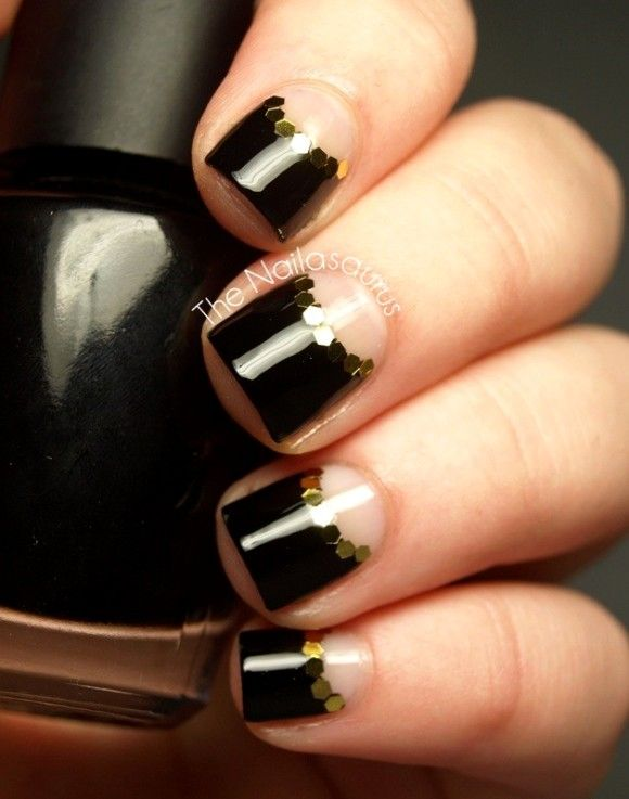 50 Half Moon Nail Art Designs To Try Nails Pinterest Moon