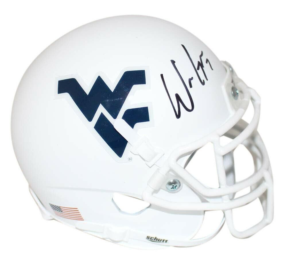 Will Grier Signed West Virginia Mountaineers White Mini Helmet BAS 24036 #westvirginia