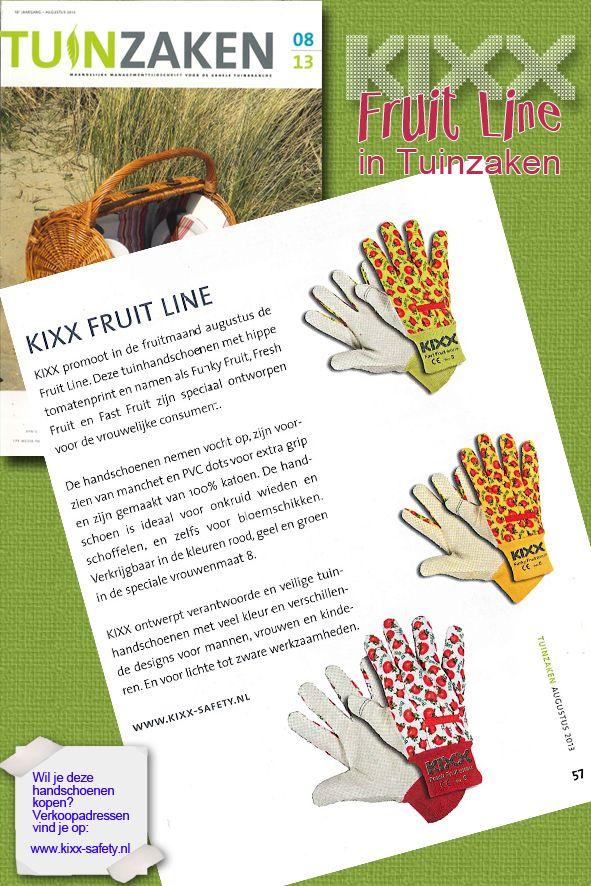 We staan in Tuinzaken met onze KIXX Fruitline!