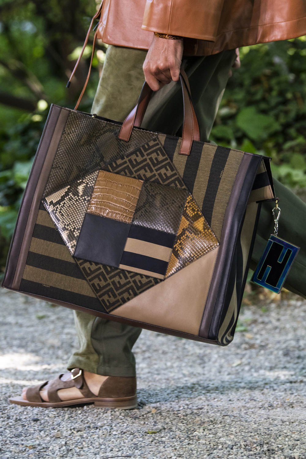 Fendi Spring 2020 Men S Fashion Show Details The Impression Bags Fashion Bags Leather Bags Handmade