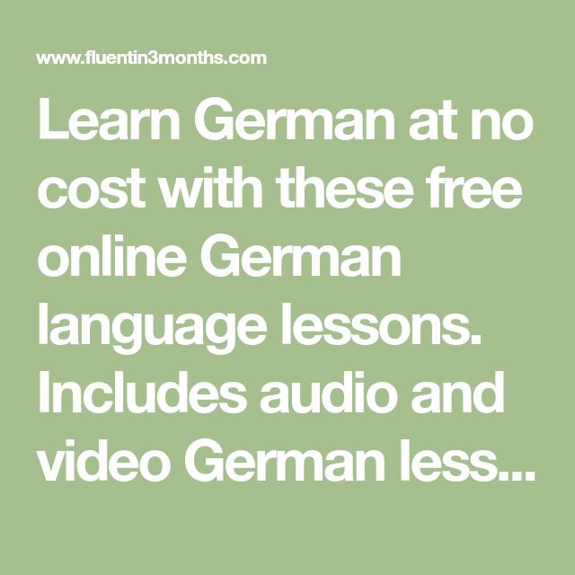 German language tutorial.