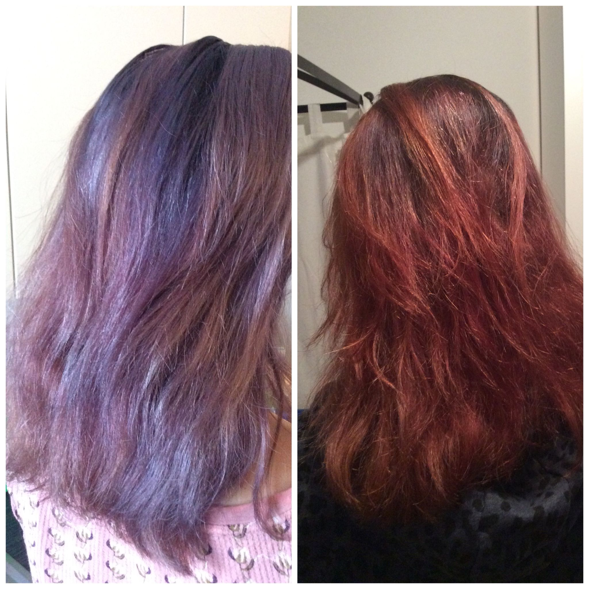 Before And After Lush Henna Marron Love How Healthy The Hair Gets