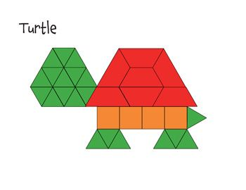 Pattern Block Mat  Turtle  Math Printables    Pattern