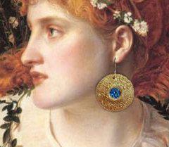 Blue Titanium Druzy Full Moon Earrings by ArtsofAvalonJewelry, $40.00