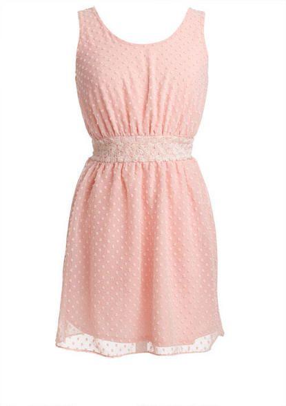 Swiss Dot Floral Waist Dress - bk
