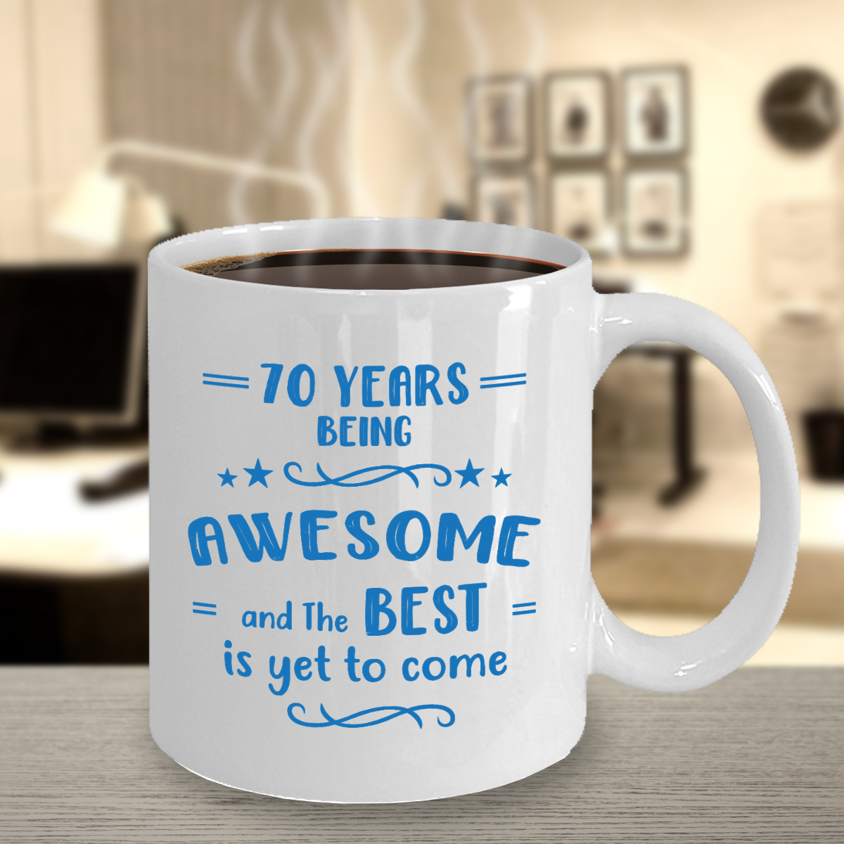 70th Birthday Being Awesome Coffee Mug 60th birthday