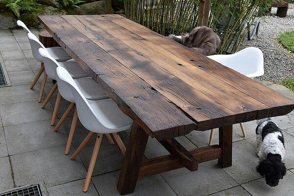 eiche altholz tisch 3x1m handmade by holzstangl | Muebles, Mesas