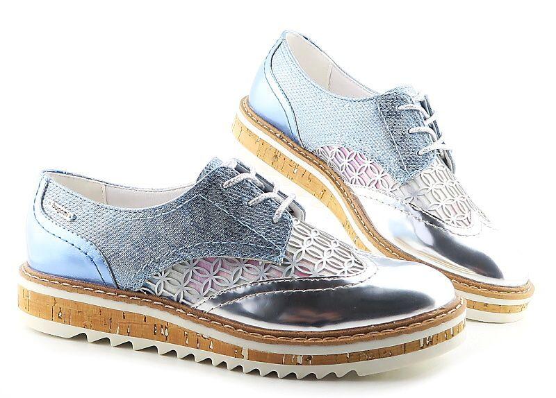 Štýlové dámske modro-strieborné topánky BUGATTI  6fb75f27c9