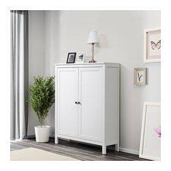Schrank ikea hemnes  HEMNES Cabinet with 2 doors, white stain | HEMNES, White stain and ...