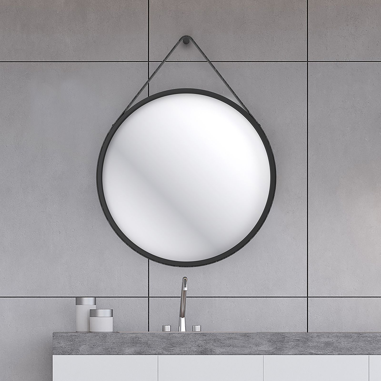 Home Design Round 60cm Bathroom Mirror Black Round Mirror Bathroom Bathroom Mirrors Uk Black Bathroom Mirrors