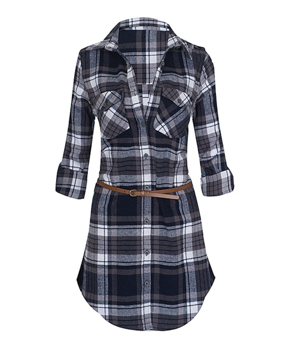 Flannel jacket with elbow patches  Another great find on zulily Royal u Navy Belted Flannel Shirt